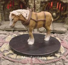 Draft Horse D&D Miniature Dungeons Dragons Pathfinder War Riding Steed Mini 26