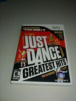 Just Dance Greatest Hits (Nintendo Wii, 2012) COMPLETE UBISOFT EVERYONE FAMILY