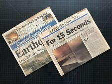 Contra Costa Times 1989 SAN FRANCISCO EARTHQUAKE SPECIAL EDITION Loma Prieta Bay
