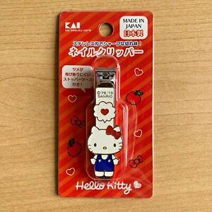 JAPAN KAI KAIJIRUSHI HELLO KITTY NAIL CLIPPER WITH LOUPE KK-2509