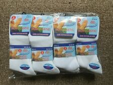 Mens 12 Pair Non Elastic Socks 100% Cotton Flexi Loose Soft Top Diabetic 6-11.