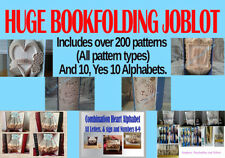 BRAND NEW. Huge Book folding Job lot. Over 200 Patterns, Plus 10 Alphabets ON CD