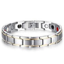 Hottime Titanium Steel Magnetic Far Therapy Negative Lon Bracelets Pain Relief