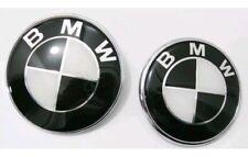 82+ 74mm BMW SCHWARZ WEISS Emblem Vorne Hinten Motorhaube