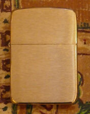 PLAIN 1941 REPLICA BRASS ZIPPO LIGHTER FREE P&P FREE FLINTS