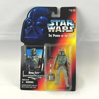"STAR WARS The Power of the Force BOBA FETT 3.75"" Action Figure 1995 Kenner NEW"