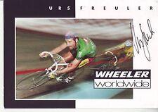 CYCLISME  carte cycliste URS FREULER équipe WHEELER WORLDWIDE  signée
