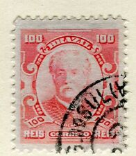 BRAZIL; 1906 early Portraits issue fine used 100r. value