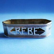 L@@k Lovely Vintage Sterling SILVER Baby Bébé Pierced Napkin Ring!
