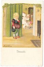 Ebner Artwork Postcard Boy Watching Children Dance at a Costume Party~105382