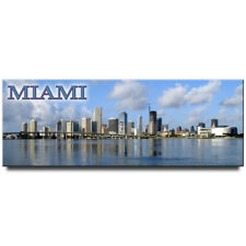 Miami Skyline panoramic fridge magnet Florida travel souvenir