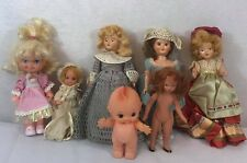 Lot Vintage Small Dolls porcelain and plastics mix sizes