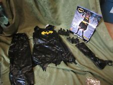 Rubies Batgirl Costume Dress Black Cape Outfit Accessories Size Medium 8-10 Look