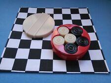 Vintage Bakelite Bandalasta Draughts Set Chequers / Checkers / Backgammon Game