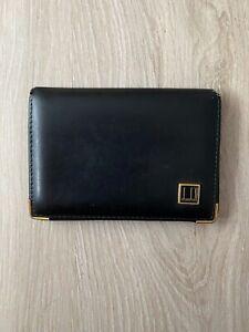 Dunhill Vintage Leather Black Bifold Wallet Purse Cardholder 1