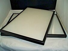 "two jewelry display case riker mount display box shadow box size 14 X 20 X 7/8"""