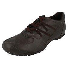 Hombre Unbranded Sintético Marrón Zapatillas Con Cordones Talla UK 12