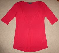 REDUCED - PORTMANS Size XS Red Viscose Top - Excellent Condition