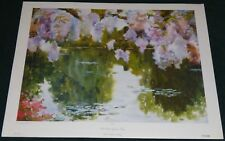 M.H. HURLIMANN ARMSTRONG WATER GARDEN – GIVERNEY TO-DAY 1987 POSTER PRINT