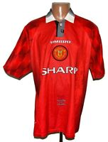 MANCHESTER UNITED 1996/1997/1998 HOME FOOTBALL SHIRT JERSEY UMBRO SIZE XL ADULT