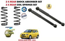 FOR SUZUKI IGNIS FH 1.3 2000-2003 2 X REAR SHOCK ABSORBER SHOCKER + COIL SPRINGS