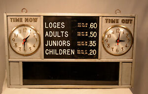 MOVIE THEATER TICKET BOOTH CLOCK