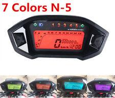 7 Colors Motorcycle LCD Digital Speedometer Odometer Backlight Speed Sensor