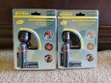 2 Pack Swivel Clip On 180 Degree Head Flashlight For Hands and Worry Free Uses