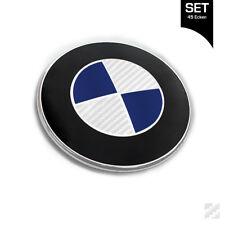 Carbon Silber Emblem Aufkleber Ecken für BMW Autos 1er 3er 5er 8er Carbon 45 Eck
