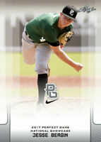 "JESSE BERGIN 2017 LEAF ""1ST EVER PRINTED"" PERFECT GAME ROOKIE CARD!"