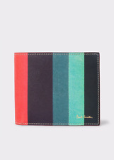 Paul Smith Men's Wallet - BNWT Signature Artist Multi Stripe Leather RRP: £140