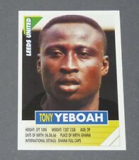 121 TONY YEBOAH GHANA LEEDS UNITED PANINI FOOTBALL PREMIER LEAGUE 1995-1996