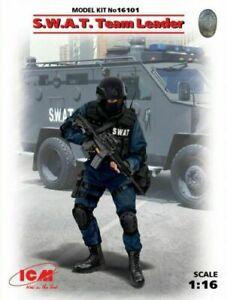 ICM 16101 S.W.A.T. Team Leader 1 figure 1/16 KIT Model Kit 16101 SWAT Police