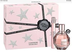 Viktor Rolf Flowerbomb Eau De Parfum Gift Set For Her 50ml + 7.5ml Travel Spray