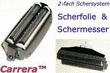 Schermesser + Scherfolie für Carrera 9113021, 9113922, 9113023, 9113024, 9113025