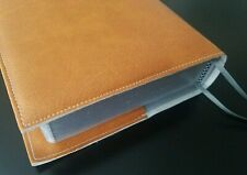 Book Cover Orange FAUX LEATHER  4 3/4