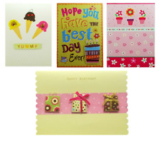 Pack Of 4 Assorted Birthday Cards Female Lady Girl Bulk Job Lot Bundle