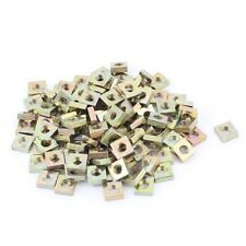 M3x5.5x2mm Zinc Plated Square Nuts Bronze Tone 100pcs C2Z9