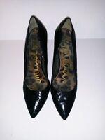 Sam Edelman Womens 10 M Sadi Black Boa Snake Print High Heels Pumps Shoes