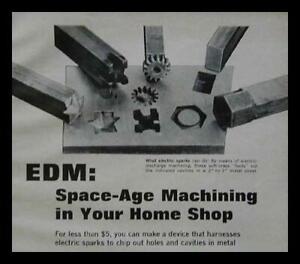 Mini EDM Electric Discharge Machine How-To build PLANS