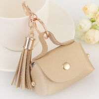 Mini Bag Key Chain PU Leather Tassel Bag Pendant Small Coin Purse Key Ring MA