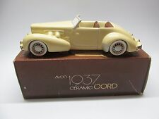 Vintage AVON Collector 1937 Ceramic Cord Car Replica Crafted in Brazil 1984
