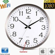 WIFI 1080P HD Spy Hidden Wall Clock Camera DVR Motion Detection Nanny Record