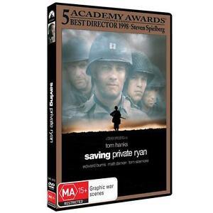Saving Private Ryan DVD Tom Hanks Edward Burns Matt Damon Region 4, BRAND NEW