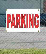 2x3 PARKING Red & White Banner Sign NEW Discount Size & Price FREE SHIP