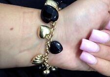 "Charm Bracelet 28.2Grams, Sz 7"" Long Vintage Women'S 14K Solid Gold Heart"