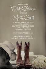 Bridal Wedding Couples Shower Invitation Cowboy Boots