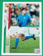 RARE FOOTBALL CARD UPPER DECK 1994 USA 94 ROBERTO MANCINI ITALIA ITALIE SQUADRA