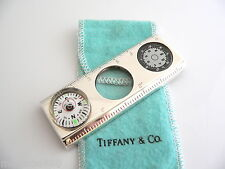Tiffany & Co Sterling Silver Compass Magnifying Glass Ruler Thermometer Rare