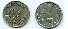 Gertbrolen 100 Francs Cochet en Cupro-Nickel 1958 Variété à la Chouette Rare